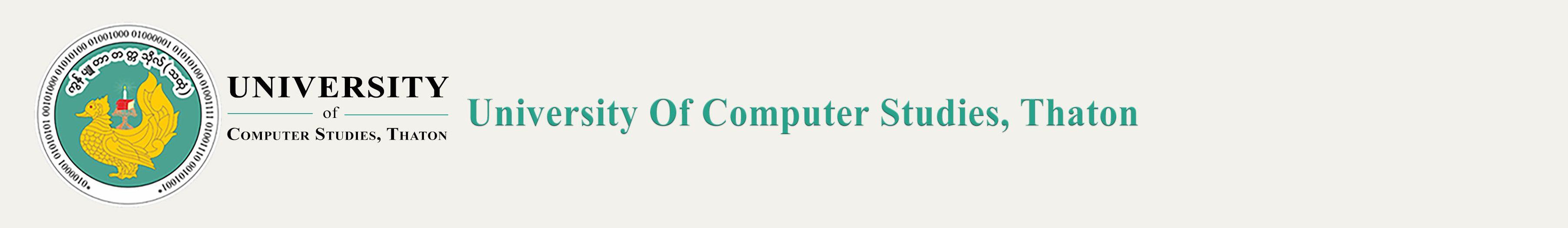 University Of Computer Studies Thaton
